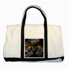 Cat Eyes Background Image Hypnosis Two Tone Tote Bag by BangZart