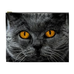 Cat Eyes Background Image Hypnosis Cosmetic Bag (xl) by BangZart