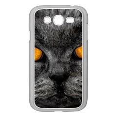 Cat Eyes Background Image Hypnosis Samsung Galaxy Grand Duos I9082 Case (white) by BangZart