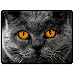 Cat Eyes Background Image Hypnosis Double Sided Fleece Blanket (large)  by BangZart