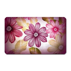 Flower Print Fabric Pattern Texture Magnet (rectangular) by BangZart