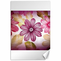 Flower Print Fabric Pattern Texture Canvas 24  X 36  by BangZart