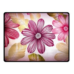 Flower Print Fabric Pattern Texture Fleece Blanket (small) by BangZart