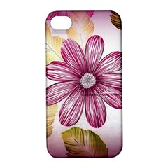 Flower Print Fabric Pattern Texture Apple Iphone 4/4s Hardshell Case With Stand