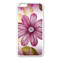 Flower Print Fabric Pattern Texture Apple Iphone 6 Plus/6s Plus Enamel White Case by BangZart