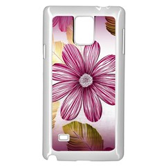 Flower Print Fabric Pattern Texture Samsung Galaxy Note 4 Case (white) by BangZart