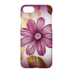 Flower Print Fabric Pattern Texture Apple Iphone 7 Hardshell Case