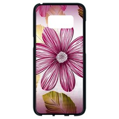 Flower Print Fabric Pattern Texture Samsung Galaxy S8 Black Seamless Case by BangZart