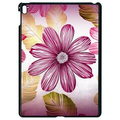Flower Print Fabric Pattern Texture Apple Ipad Pro 9 7   Black Seamless Case by BangZart