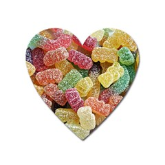 Jelly Beans Candy Sour Sweet Heart Magnet by BangZart