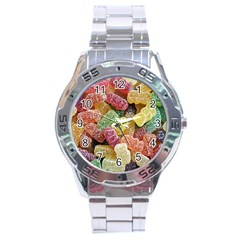 Jelly Beans Candy Sour Sweet Stainless Steel Analogue Watch by BangZart