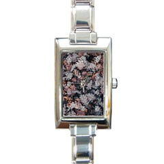 Leaf Leaves Autumn Fall Brown Rectangle Italian Charm Watch by BangZart