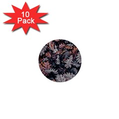 Leaf Leaves Autumn Fall Brown 1  Mini Buttons (10 Pack)  by BangZart