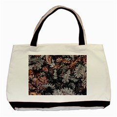 Leaf Leaves Autumn Fall Brown Basic Tote Bag by BangZart