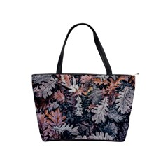 Leaf Leaves Autumn Fall Brown Shoulder Handbags by BangZart