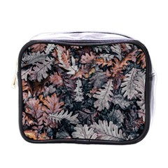 Leaf Leaves Autumn Fall Brown Mini Toiletries Bags by BangZart