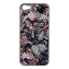 Leaf Leaves Autumn Fall Brown Apple Iphone 5 Case (silver) by BangZart