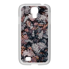 Leaf Leaves Autumn Fall Brown Samsung Galaxy S4 I9500/ I9505 Case (white) by BangZart