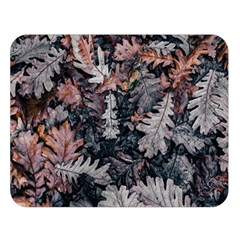 Leaf Leaves Autumn Fall Brown Double Sided Flano Blanket (large)  by BangZart