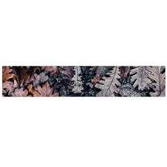 Leaf Leaves Autumn Fall Brown Flano Scarf (large) by BangZart