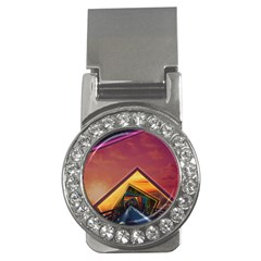 The Rainbow Bridge Of A Thousand Fractal Colors Money Clips (cz)  by jayaprime
