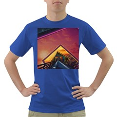 The Rainbow Bridge Of A Thousand Fractal Colors Dark T Shirt by jayaprime