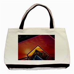 The Rainbow Bridge Of A Thousand Fractal Colors Basic Tote Bag by jayaprime