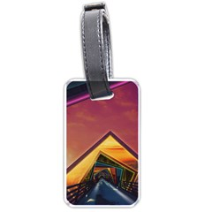 The Rainbow Bridge Of A Thousand Fractal Colors Luggage Tags (one Side)  by jayaprime