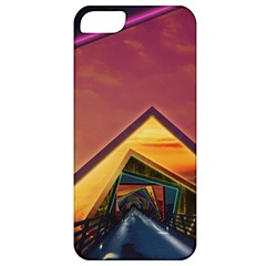 The Rainbow Bridge Of A Thousand Fractal Colors Apple Iphone 5 Classic Hardshell Case by jayaprime