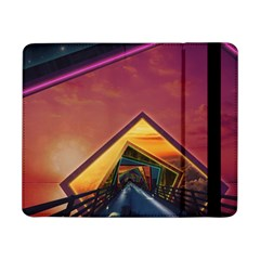 The Rainbow Bridge Of A Thousand Fractal Colors Samsung Galaxy Tab Pro 8 4  Flip Case by jayaprime