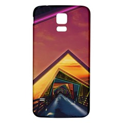 The Rainbow Bridge Of A Thousand Fractal Colors Samsung Galaxy S5 Back Case (white) by jayaprime