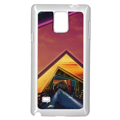 The Rainbow Bridge Of A Thousand Fractal Colors Samsung Galaxy Note 4 Case (white) by jayaprime