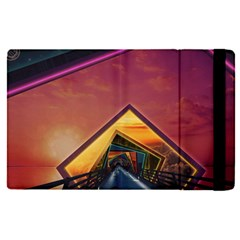 The Rainbow Bridge Of A Thousand Fractal Colors Apple Ipad Pro 12 9   Flip Case by jayaprime