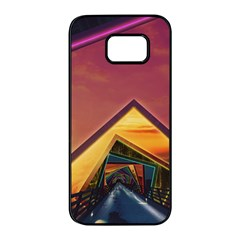 The Rainbow Bridge Of A Thousand Fractal Colors Samsung Galaxy S7 Edge Black Seamless Case by jayaprime