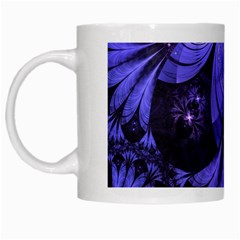 Beautiful Lilac Fractal Feathers Of The Starling White Mugs by jayaprime