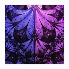 Beautiful Lilac Fractal Feathers Of The Starling Medium Glasses Cloth (2 Side) by jayaprime