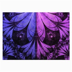 Beautiful Lilac Fractal Feathers Of The Starling Large Glasses Cloth by jayaprime