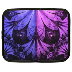 Beautiful Lilac Fractal Feathers Of The Starling Netbook Case (xl)  by jayaprime
