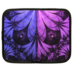 Beautiful Lilac Fractal Feathers Of The Starling Netbook Case (xxl)  by jayaprime