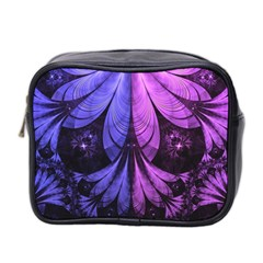 Beautiful Lilac Fractal Feathers Of The Starling Mini Toiletries Bag 2 Side by jayaprime