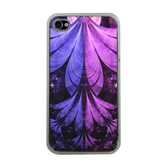 Beautiful Lilac Fractal Feathers Of The Starling Apple Iphone 4 Case (clear) by jayaprime