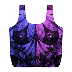 Beautiful Lilac Fractal Feathers Of The Starling Full Print Recycle Bags (l)  by jayaprime