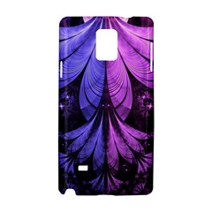 Beautiful Lilac Fractal Feathers Of The Starling Samsung Galaxy Note 4 Hardshell Case by jayaprime