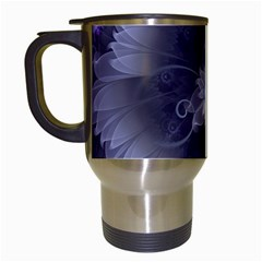 Amazing Fractal Triskelion Purple Passion Flower Travel Mugs (white) by jayaprime