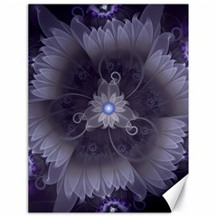 Amazing Fractal Triskelion Purple Passion Flower Canvas 18  X 24   by jayaprime
