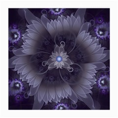 Amazing Fractal Triskelion Purple Passion Flower Medium Glasses Cloth by jayaprime