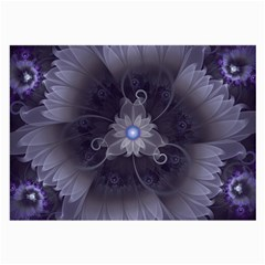 Amazing Fractal Triskelion Purple Passion Flower Large Glasses Cloth by jayaprime