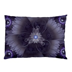 Amazing Fractal Triskelion Purple Passion Flower Pillow Case (two Sides) by jayaprime