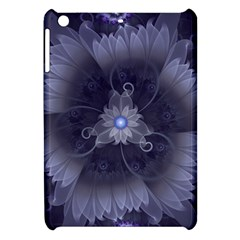 Amazing Fractal Triskelion Purple Passion Flower Apple Ipad Mini Hardshell Case by jayaprime