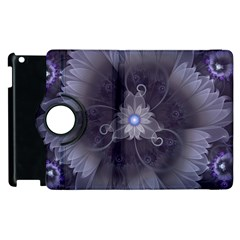 Amazing Fractal Triskelion Purple Passion Flower Apple Ipad 3/4 Flip 360 Case by jayaprime